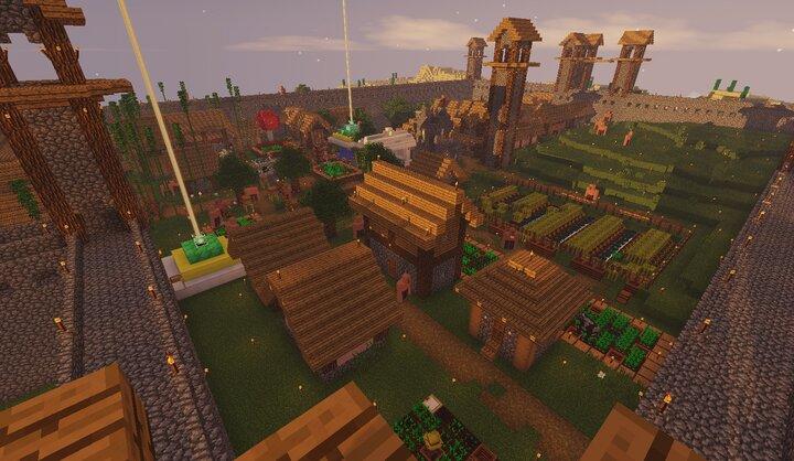 My b̶e̶d̶r̶o̶c̶k̶ java survival world Minecraft Map