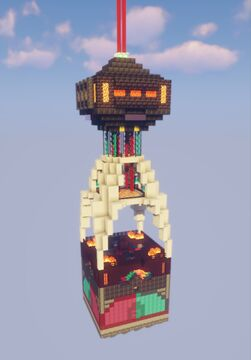 The 1 chunk ultamate nether tower Minecraft Map & Project
