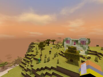 Stucco style Mediterranean house (+Shaders) Minecraft Map & Project