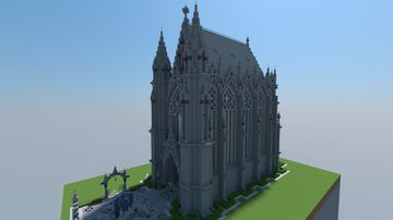 """Small"" Gothic Chapel Minecraft Map & Project"