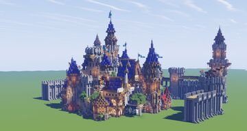 Medieval Fantasy Castle Concept Build Minecraft Map & Project