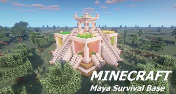 Surival Base + Farm (Modern Maya Temple Tutorial) Minecraft Map & Project