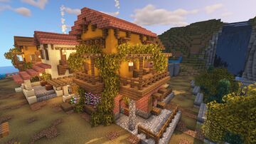 Simple Spanish/Tuscan House Minecraft Map & Project