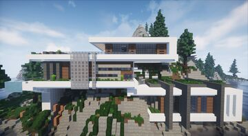 Modern Villa | with interiors + download | MFC | Minecraft Map & Project
