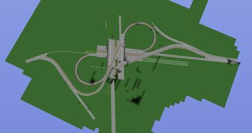 Highway Interchange [1,5:1 scale] Minecraft Map & Project