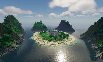 Paradise Island & Mansion Minecraft Map & Project