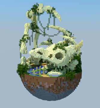 50x50 Build  Dragon bone Minecraft Map & Project