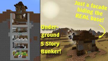 Apocalypse Bunker Build! Minecraft Map & Project
