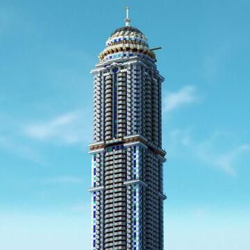 PRINCESS TOWER - Dubai Marina Minecraft Map & Project