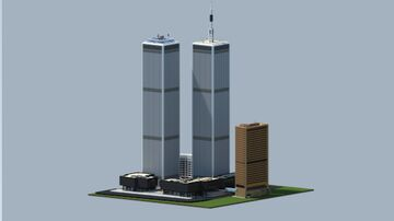 Original World Trade Center Complex, Lower Manhattan - New York City in 2001 | Minecraft Complex Recreation & Project. Minecraft Map & Project
