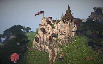 #WeAreConquest - Small Medieval Castle 1.15 Minecraft Map & Project
