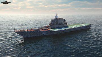 Baku (Admiral Gorshkov) 1:1 Scale Kiev class Minecraft Map & Project