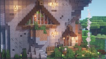 (1.14.4) Triangle House in Mountain [YouTube] Nalyu Minecraft Map & Project