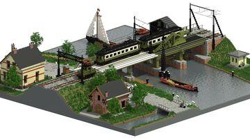 Hofpleinlijn Leidschendam 1914 | 3:1 Diorama Minecraft Map & Project