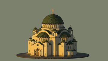 Saint Sava Temple Belgrade Minecraft Map & Project