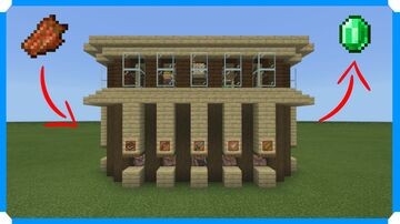 How To Build An Auto Villager Breeder & Trading Outpost Minecraft Map & Project