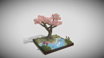 Cherry Blossom Tree 🌸🌼 Minecraft Map & Project