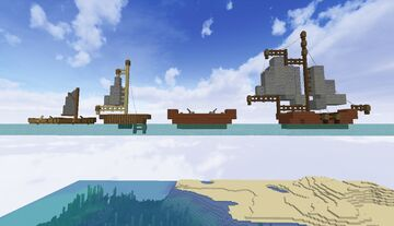 Small boats and their respective ghost counterparts Minecraft Map & Project