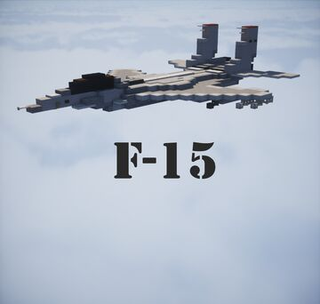 McDonnell Douglas F-15 Eagle Minecraft Map & Project