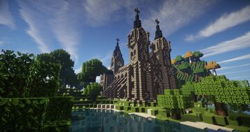 Waterside church Timelapse Minecraft Map & Project