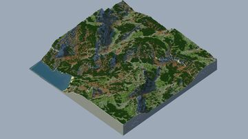🌍 Rocky Forest - [Custom Realistic Terrain] (Java & Bedrock) Minecraft Map & Project