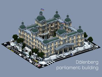 Dalenberg city Parliament building Minecraft Map & Project