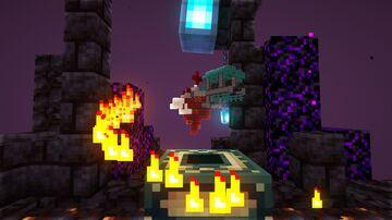 (1.16.x) SkyNether skyblock / Missões, Desafios, História & Dublagem *Versão Português Minecraft Map & Project