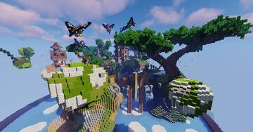 Flying Secret Islands Minecraft Map & Project
