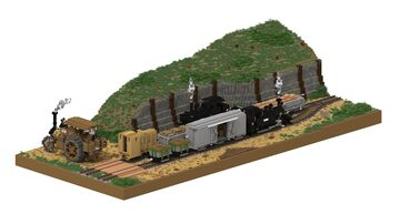 Trench railway diorama | 5:1 Diorama Minecraft Map & Project