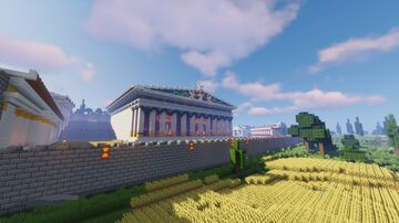 Sanctuary of Eleusis - a Greek and Roman temple complex Minecraft Map & Project