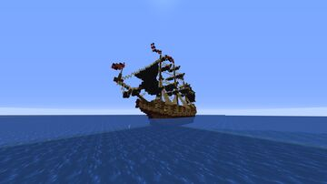 Medieval Galleon Ship Minecraft Map & Project