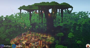 Viveri & Yakou - A vibrant village under the shade of the world tree Minecraft Map & Project