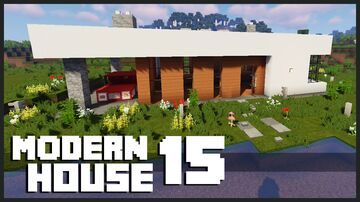 Minecraft Modern House : How to build a Modern House Tutorial  1.12 Minecraft Map & Project