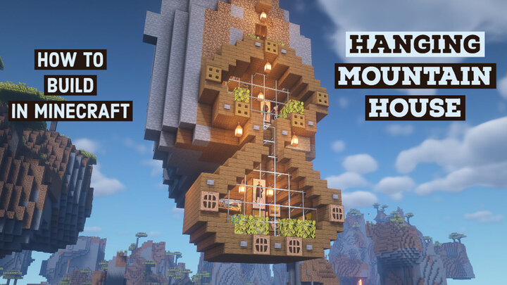 Minecraft Hanging Mountain House How To Build In Minecraft Minecraft Map