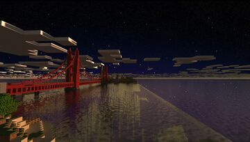 Recreation of the Golden Gate Minecraft Map & Project