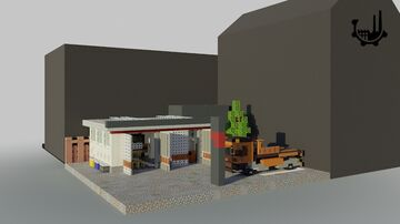 Backyard Mechanic  Minecraft Town House Minecraft Map & Project