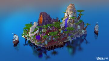 Spawn Pirate Fantasy Minecraft Map & Project