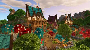 Minecraft 1.16 Fantasy Village Build Minecraft Map & Project