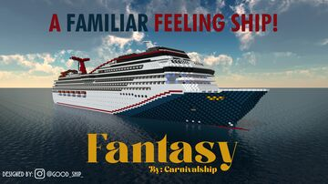M/S Fantasy II - 1:1 Scale Replica (Exterior Only) [Pop Reel!] (Fictional Ship) 1.12.2 Minecraft Map & Project