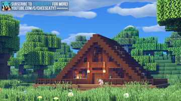 Triangle Cabin House Minecraft Map & Project