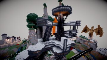 Massive Modern Mansion On Montains Minecraft Map & Project