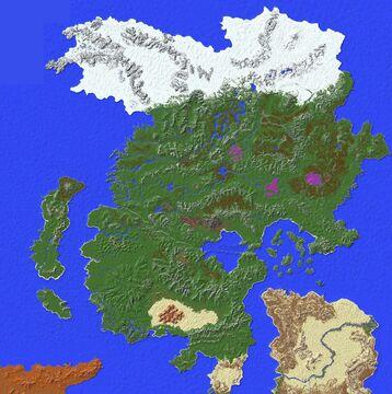 Paralon Continents #3 & #4 - Cynera & Okosha [22K x 20K] Minecraft Map & Project