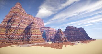 Big Forest / Desert RPG Map - 1500x1500 Minecraft Map & Project