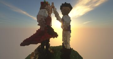 Two people with Moravian Folk Costume Minecraft Map & Project