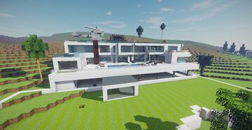 Modern Mansion (Mansions Project #1) Minecraft Map & Project
