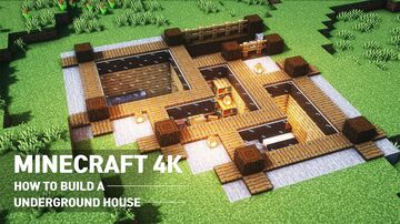 UNDERGROND HOUSE SURVIVAL BASE 1.16.1 Minecraft Map & Project