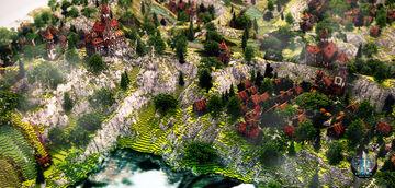 "Build - Village de Red Hawk - By LeftCake [ DOWNLOAD ] ""version 1.12 "" Minecraft Map & Project"