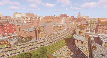 IR - Urban American Railroad - New update December 2020. Minecraft Map & Project