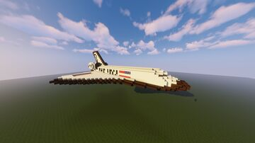 NASA | Space Shuttle [DOWNLOAD + SCHEMATIC] Minecraft Map & Project