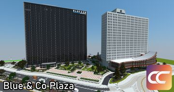 Blue & Co Plaza | By: Sami3t | CCS Minecraft Map & Project